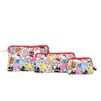 【美國Ju Ju Be媽咪包】BeSet 拉鍊包一組3入-Hello Kitty聯名款:Hello Sanrio 三麗鷗,全員集合