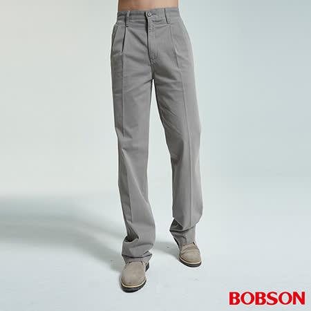 BOBSON 男款超手感打摺休閒褲(1712-85)