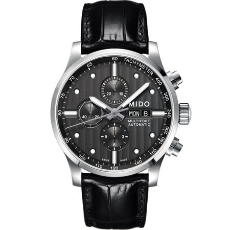 MIDO Multifort Chrono Valijoux計時碼錶-黑/44mm M0056141606100