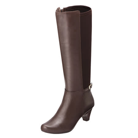 【Kimo德國手工氣墊鞋】俐落時尚真皮長靴(咖啡色K15WF032568)