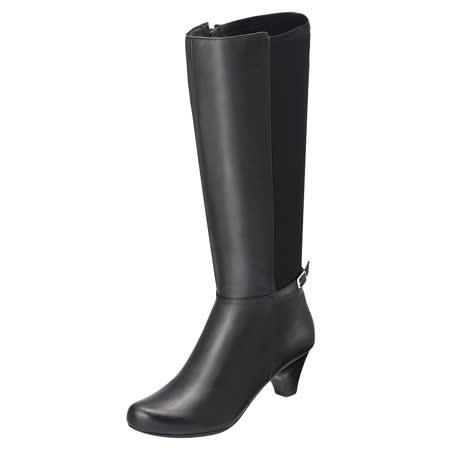 【Kimo德國手工氣墊鞋】俐落時尚真皮長靴(個性黑K15WF032563)