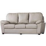 MY傢俬 柔和舒適皮面三人沙發