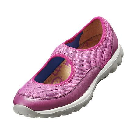 【Kimo德國手工氣墊鞋】真皮雙抗輕量休閒鞋(繽紛紫K15WF078029)