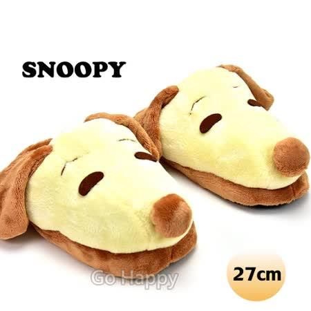PEANUTS【復古Snoopy】絨毛室內拖鞋-27CM