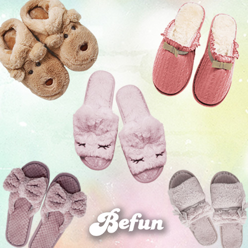 ~ BeFun 內著專科 ~SUN 拖鞋 兔子 毛絨絨室內拖鞋 保暖可愛外型 送禮自用皆宜