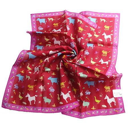 【Vivienne Westwood】動物家族帕巾-紅
