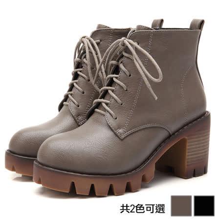 《JOYCE》帥氣百搭繫帶馬丁靴