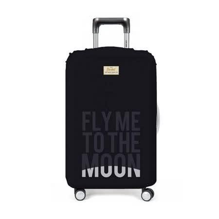 【義大利 Rocket】防水行李箱套 (M)-音樂歌詞 Fly Me