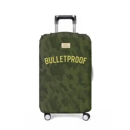 【義大利 Rocket】防水行李箱套 (M)-音樂歌詞 Bulletproof