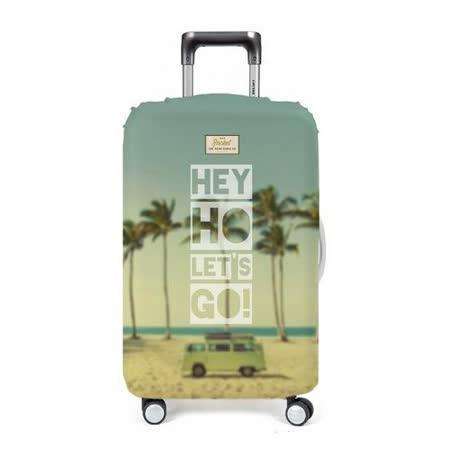 【義大利 Rocket】防水行李箱套 (M)-音樂歌詞 Hey Ho