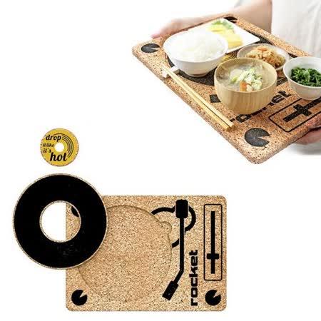 【義大利 Rocket】DJ唱盤造型多功能餐墊