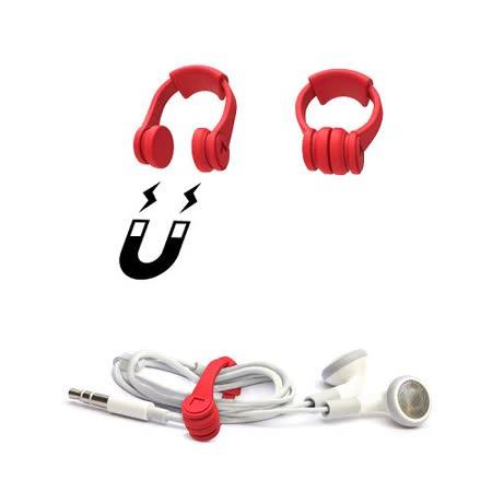 【義大利 Rocket】耳機造型捲線器(4入)