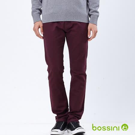 bossini男裝-磨毛保暖褲04酒紅