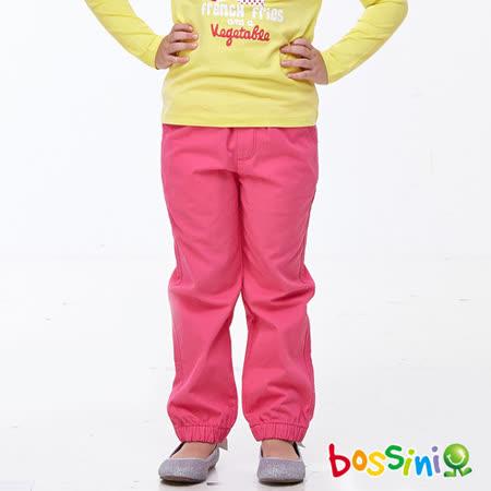 bossini女童-純棉卡其褲01玫瑰色-(品)