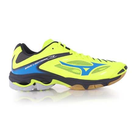 (男) MIZUNO WAVE LIGHTNING Z3 排球鞋-美津濃 螢光黃藍
