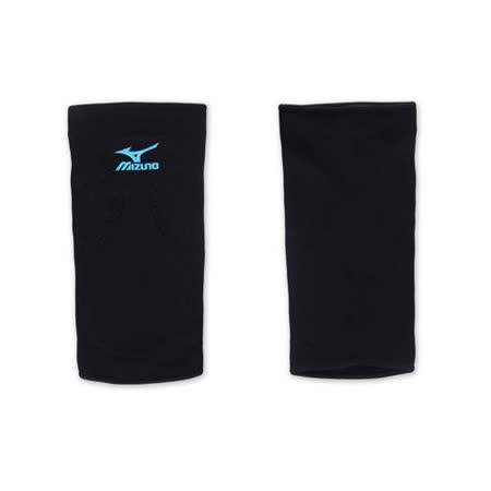 MIZUNO 排球防撞運動護膝-巧固球 手球 一只入 美津濃 黑水藍 F