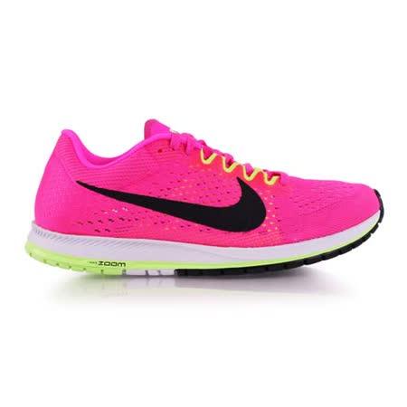 (男女) NIKE ZOOM STREAK 6 路跑鞋-慢跑 訓練 亮粉白