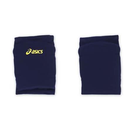 ASICS 排球防撞短版泡棉護膝-巧固球 手球 一只入 亞瑟士 丈青黃