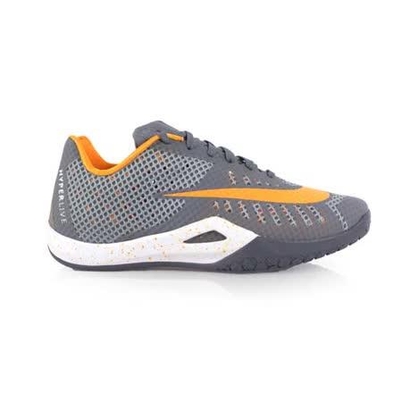 (男) NIKE HYPERLIVE EP 籃球鞋-運動 籃球鞋 灰橘