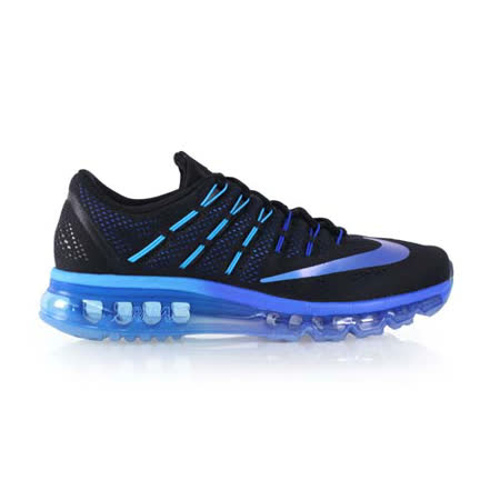 (男) NIKE AIR MAX 2016 氣墊慢跑鞋-路跑 黑藍