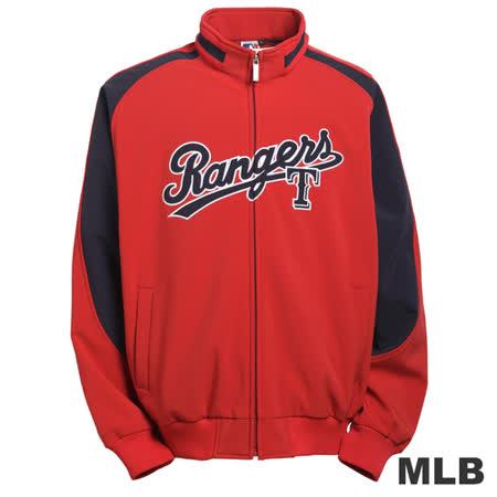 (男)MLB-德州遊騎兵隊立領棒球外套-紅