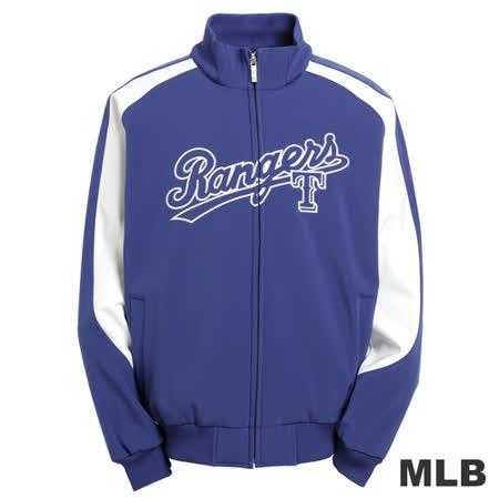 (男)MLB-德州遊騎兵隊立領棒球外套-藍