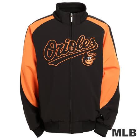 (男)MLB-巴爾的摩金鶯隊立領棒球外套-黑