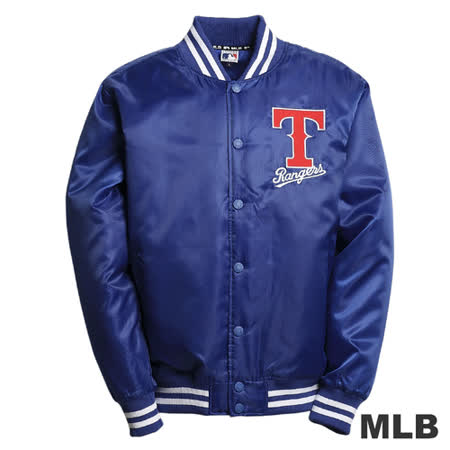 (男)MLB-德州遊騎兵隊鋪棉棒球外套-藍