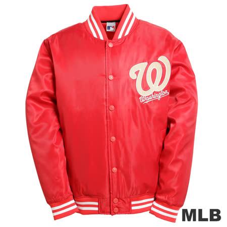 (男)MLB-華盛頓國民隊鋪棉棒球外套-紅
