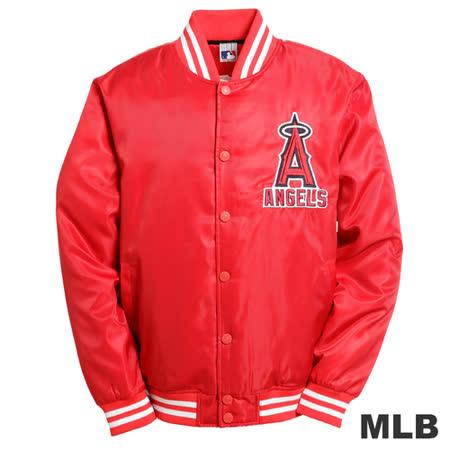 (男)MLB-洛杉磯安納罕天使隊鋪棉棒球外套-紅