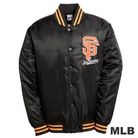 (男)MLB-舊金山巨人隊鋪棉棒球外套-黑
