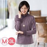 日本Portcros 預購-華麗褶邊蕾絲內刷毛上衣(M-3L共六色)