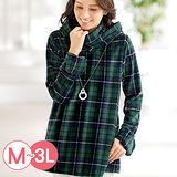日本Portcros 預購-保暖手套設計高領連帽長版上衣(M-3L共四色)