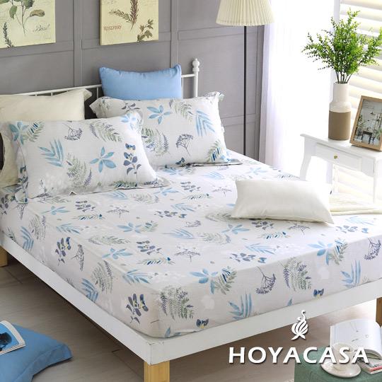 ~HOYACASA漫步莊園~ 雙人親膚極潤天絲床包枕套三件組
