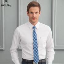 Valentino Rudy范倫鐵諾.路迪 長袖襯衫-白色細紋