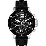 A│X Armani Exchange 極限飆速計時腕錶-黑/49mm AX1522