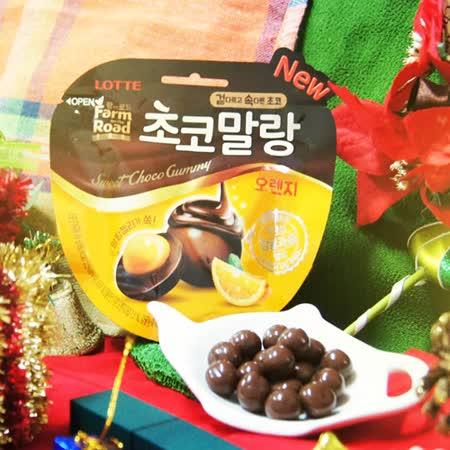 【LOTTE樂天 】田園巧克力球 柑橘口味