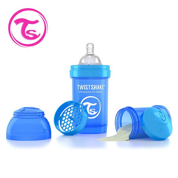 ~Twistshake~瑞典 彩虹奶瓶 ~ 皇家藍 180ml 奶嘴口徑0.3mm