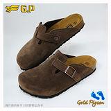 【G.P 男休閒個性柏肯鞋】M366-37 咖啡色絨毛 (SIZE:40-44 共二色)