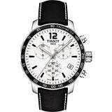 TISSOT T-Sport Quickster 競速運動計時腕錶-白x黑/42mm T0954171603700