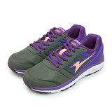 【女】ARNOR 輕量避震慢跑鞋 MIX LAYER 動力暢跑系列 紫灰橘 62507