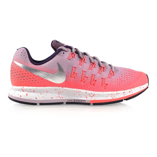 (女) NIKE AIR ZOOM PEGASUS 33 SHIELD慢跑鞋 紫粉橘