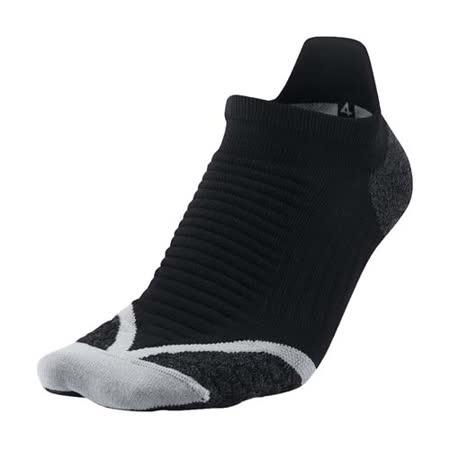 (男) NIKE ELITE厚底慢跑踝襪-路跑 短襪 襪子 黑白 M