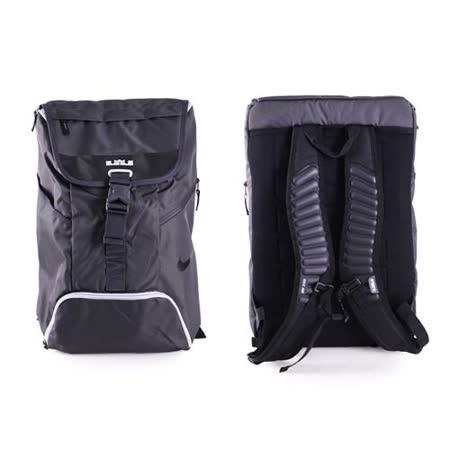 NIKE 籃球後背包-雙肩包 MAX AIR氣墊 黑灰 F