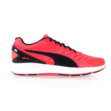 (男) PUMA IGNITE V2 訓練慢跑鞋-路跑 健身 螢光粉黑