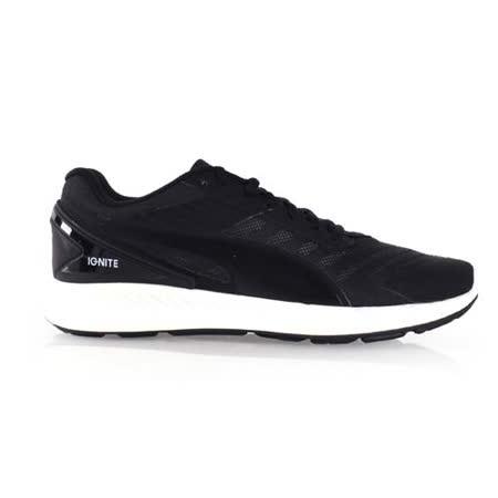 (男) PUMA IGNITE V2 訓練慢跑鞋-路跑 健身 黑白
