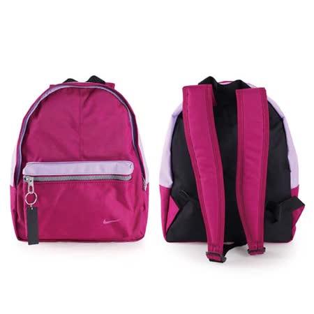 (童) NIKE 男女兒經典後背包-雙肩包 紫桃紅 F