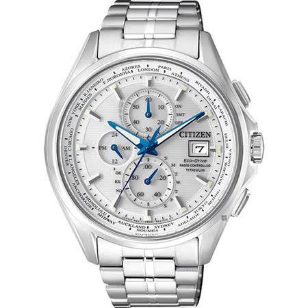 【CITIZEN 星辰】Eco-Drive 尖峰時刻鈦金屬光動能電波腕錶(43mm/AT8130-56A)