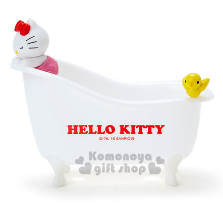 〔小禮堂〕Hello Kitty 浴缸造型收納盒《小.白.小鳥.趴姿.閉眼睛》
