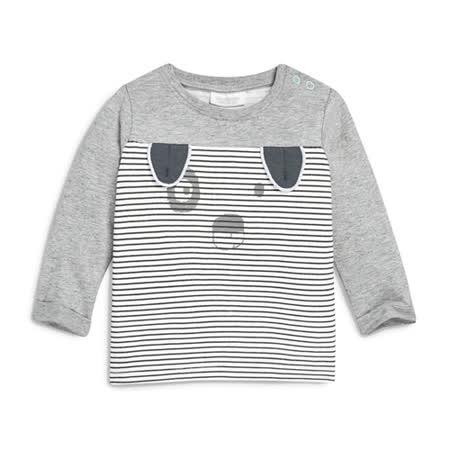 上衣 男童 條紋熊貓 歐美經典兒童純棉長袖T恤